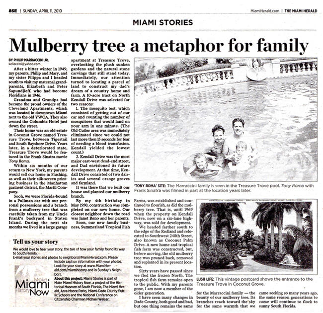 Miami Herald story of Family